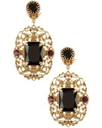 Lauren by Ralph Lauren - Filigree Stone Statement Earrings - Lyst