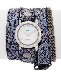 La Mer Collections - Women's Midnight Sparkle Watch - Lyst