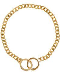 Lauren by Ralph Lauren - Interlocking Ring Chain Necklace - Lyst
