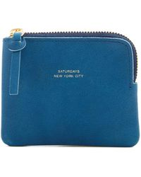 Saturdays NYC - Cash Half-zip Leather Pouch - Lyst
