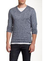 DKNY - Space Dye V-neck Sweater - Lyst