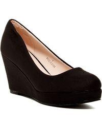 Elegant Footwear Malisia Platform Wedge Pump