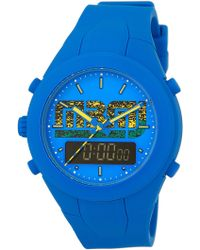 Marc By Marc Jacobs | Men's X-up Dual Time Silicone Watch | Lyst