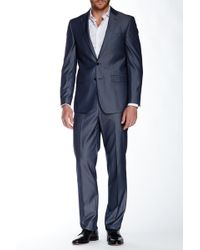CALVIN KLEIN 205W39NYC - Herringbone Two Button Notch Lapel Suit - Lyst