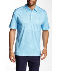 Cutter & Buck - Seamount Print Polo - Lyst