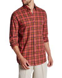 Cutter & Buck - Long Sleeve Ellison Plaid Button Up Shirt - Lyst
