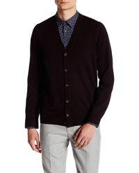 Ben Sherman - V-neck Merino Wool Cardigan - Lyst
