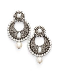 Tasha - Faux Pearl Drop Earrings - Lyst