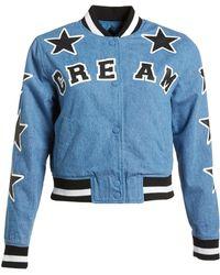 Mini Cream - Denim Letterman's Jacket - Lyst