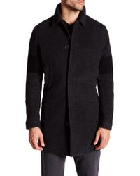 James Perse - Stripe Sleeve Winter Coat - Lyst
