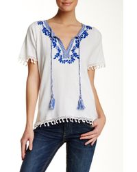 Hiche - Embroidered Tee - Lyst