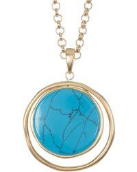 Karen Kane - California Current Reversible Circle Pendant Necklace - Lyst