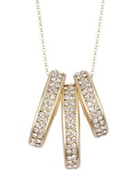 Karen Kane - Crystal Rain Pave Crystal Necklace - Lyst