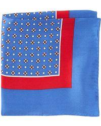 Burma Bibas Neat Printed Silk Pocket Square