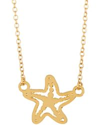 Kris Nations - 14k Gold Plated Starfish Charm Necklace - Lyst