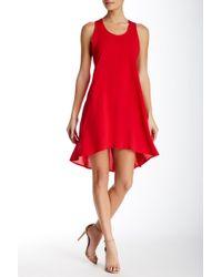 Everleigh - Lace Trim Hi-lo Dress - Lyst