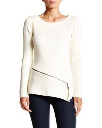 Laundry by Shelli Segal - Zipper Sweater - Lyst