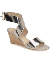 Attilio Giusti Leombruni - Ankle Wrap Wedge Sandal (women) - Lyst