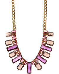 Carolee - Nassau Nights Facted Stone Collar Necklace - Lyst
