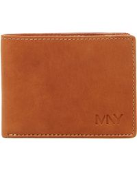 Marc New York - Washed Leather Slimfold Wallet - Lyst