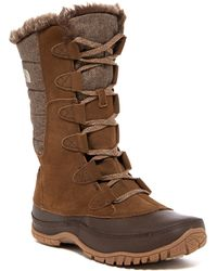 The North Face - Nuptse Purna Waterproof Faux Fur Boot - Lyst