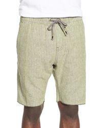 Howe - Vista Striped Chambray Short - Lyst