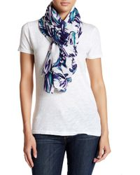 Halogen - Colorful Palm Oblong Scarf - Lyst