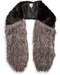 Halogen - Faux Fur Stole - Lyst