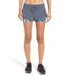 Zella - 'twice As Nice' Layered Shorts - Lyst