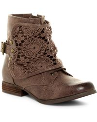 Not Rated - Crunchy Crunch Bootie - Lyst