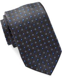 David Donahue - Paisley Square Silk Tie - Lyst