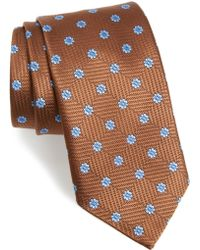 David Donahue - Floral Medallion Silk Tie - Lyst