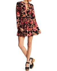 Free People - Tegan Long Sleeve Mini Dress - Lyst