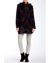 Steve Madden - Hooded Printed Coat - Lyst