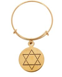 ALEX AND ANI - 14k Gold Filled Star Of David Charm Expandable Ring - Lyst