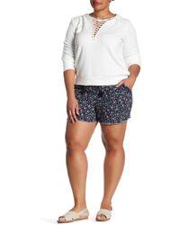 Jolt - Printed Linen Blend Short (plus Size) - Lyst