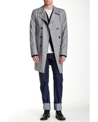 Ports 1961 - Virgin Wool Tasmanian Storm System Double Breasted Coat - Lyst