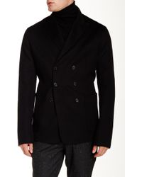 Ports 1961 - Double Breasted Wool Blend Coat - Lyst