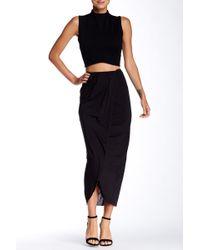 Twenty - Faux Wrap Skirt - Lyst