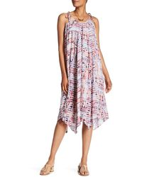 HOPE AND HARLOW - Tie Strap Pleated Dress - Lyst