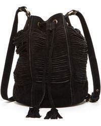 Raj - Multi-strap Suede Drawstring Bag - Lyst