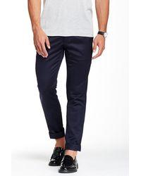Quinn - Leather Trim Slim Fit Trouser - Lyst