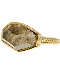 Melinda Maria - Geo Labradorite Textured Band Ring - Size 9 - Lyst
