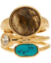 Melinda Maria - Courtney Labradorite Ring - Size 8 - Lyst