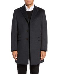 Ted Baker - Alaska Trim Fit Wool & Cashmere Overcoat - Lyst