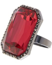 Cara - Statement Radiant Crystal Ring - Lyst