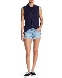 Romeo and Juliet Couture - Embroidered Floral Short - Lyst