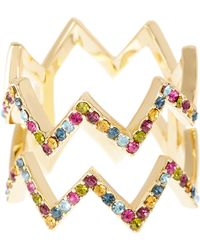 Ariella Collection - Double Band Zigzag Ring - Lyst