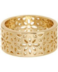 Ariella Collection - Filagree Metal Band Ring - Lyst