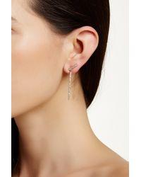 Ariella Collection - Linear Crawler Drop Earrings - Lyst